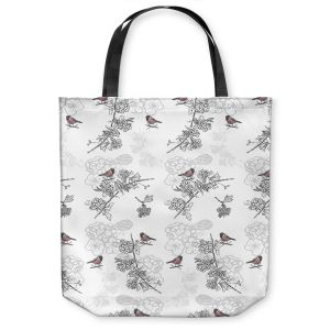 Unique Shoulder Bag Tote Bags  Julie Ansbro - Hawthorn Blush Birds