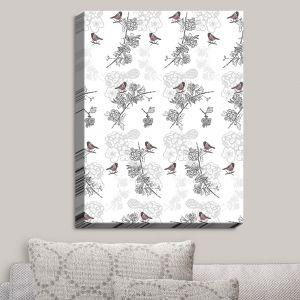Decorative Canvas Wall Art | Julie Ansbro - Hawthorn Blush Birds | Birds Tree Branches