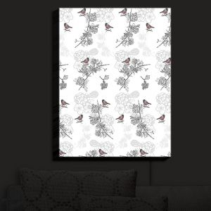 Nightlight Sconce Canvas Light | Julie Ansbro - Hawthorn Blush Birds | Birds Tree Branches