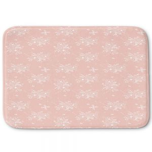 Decorative Bathroom Mats | Julie Ansbro - Lacy Bouquet I