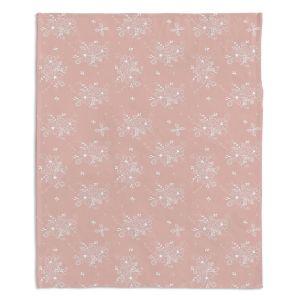 Decorative Fleece Throw Blankets | Julie Ansbro - Lacy Bouquet I
