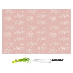 Artistic Kitchen Bar Cutting Boards | Julie Ansbro - Lacy Bouquet I