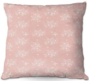 Decorative Outdoor Patio Pillow Cushion | Julie Ansbro - Lacy Bouquet I