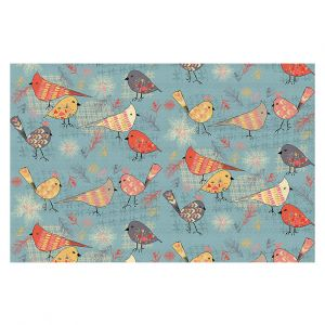Decorative Area Rug 3 x 5 Ft from DiaNoche Designs by Julie Ansbro - Outline Birdies