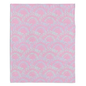 Artistic Sherpa Pile Blankets | Julie Ansbro - Pink Lace