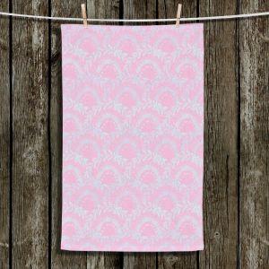 Unique Hanging Tea Towels | Julie Ansbro - Pink Lace | Patterns Feminine