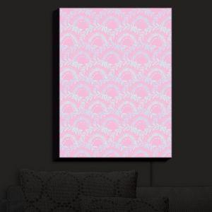 Nightlight Sconce Canvas Light | Julie Ansbro - Pink Lace | Patterns Feminine