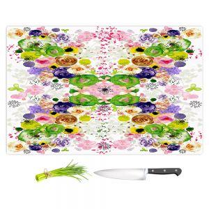 Artistic Kitchen Bar Cutting Boards | Julie Ansbro - Romantic Blooms Green Yellow