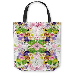 Unique Shoulder Bag Tote Bags  Julie Ansbro - Romantic Blooms Green Yellow