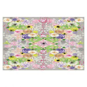 Decorative Floor Coverings | Julie Ansbro - Romantic Blooms Griege