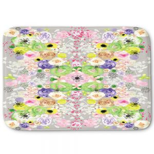 Decorative Bathroom Mats | Julie Ansbro - Romantic Blooms Griege