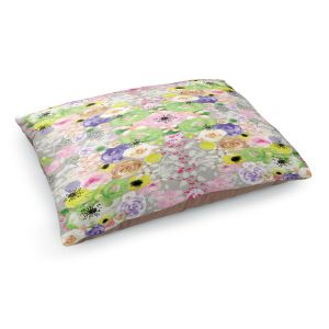 Decorative Dog Pet Beds | Julie Ansbro - Romantic Blooms Griege