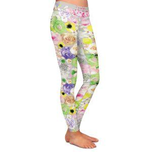 Casual Comfortable Leggings | Julie Ansbro - Romantic Blooms Griege