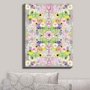 Decorative Canvas Wall Art | Julie Ansbro - Romantic Blooms Griege | Flower Patterns
