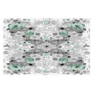 Decorative Floor Coverings | Julie Ansbro - Romantic Blooms Mint