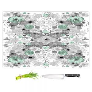 Artistic Kitchen Bar Cutting Boards | Julie Ansbro - Romantic Blooms Mint