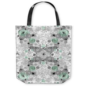 Unique Shoulder Bag Tote Bags |Julie Ansbro - Romantic Blooms Mint