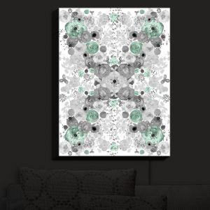 Nightlight Sconce Canvas Light | Julie Ansbro - Romantic Blooms Mint | Flower Patterns