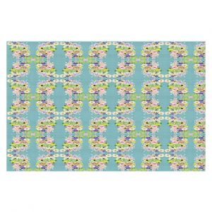 Decorative Floor Coverings | Julie Ansbro - Romantic Blooms Pattern Sky