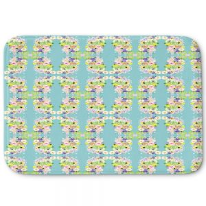Decorative Bathroom Mats | Julie Ansbro - Romantic Blooms Pattern Sky