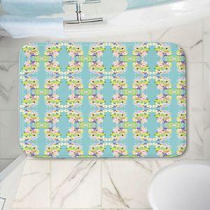 Decorative Bathroom Mats | Julie Ansbro - Romantic Blooms Pattern Sky