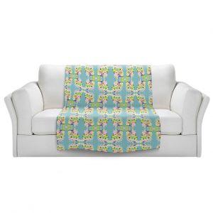 Artistic Sherpa Pile Blankets | Julie Ansbro - Romantic Blooms Pattern Sky