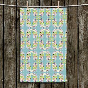 Unique Hanging Tea Towels | Julie Ansbro - Romantic Blooms Pattern Sky | Flower Patterns