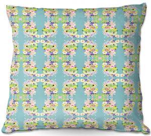 Throw Pillows Decorative Artistic | Julie Ansbro - Romantic Blooms Pattern Sky