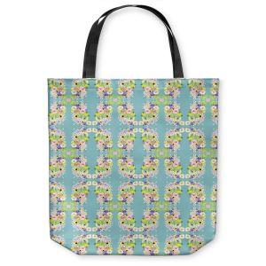 Unique Shoulder Bag Tote Bags |Julie Ansbro - Romantic Blooms Pattern Sky