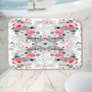 Decorative Bathroom Mats | Julie Ansbro - Romantic Blooms Ruby