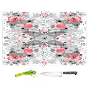 Artistic Kitchen Bar Cutting Boards | Julie Ansbro - Romantic Blooms Ruby