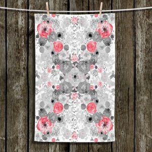 Unique Hanging Tea Towels | Julie Ansbro - Romantic Blooms Ruby | Flower Patterns
