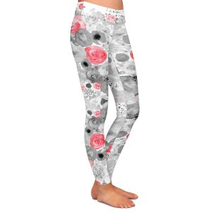 Casual Comfortable Leggings | Julie Ansbro - Romantic Blooms Ruby