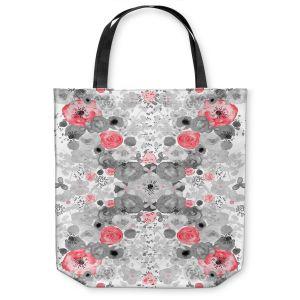 Unique Shoulder Bag Tote Bags |Julie Ansbro - Romantic Blooms Ruby