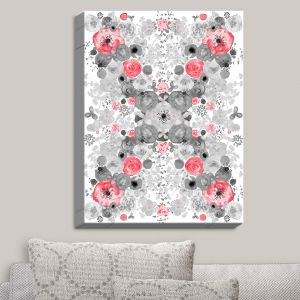 Decorative Canvas Wall Art | Julie Ansbro - Romantic Blooms Ruby | Flower Patterns