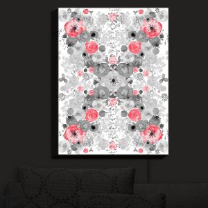 Nightlight Sconce Canvas Light | Julie Ansbro - Romantic Blooms Ruby | Flower Patterns
