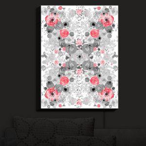 Nightlight Sconce Canvas Light | Julie Ansbro - Romantic Blooms Ruby | Flower Patterns