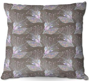Throw Pillows Decorative Artistic | Julie Ansbro - Tendrils Storm II