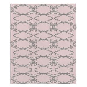 Decorative Fleece Throw Blankets | Julie Ansbro - Twigs Pink