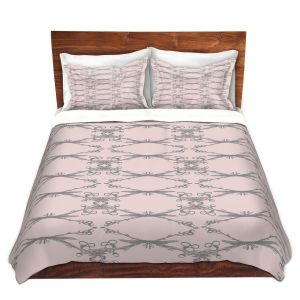 Artistic Duvet Covers and Shams Bedding   Julie Ansbro - Twigs Pink