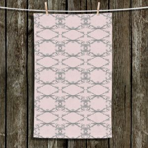 Unique Hanging Tea Towels | Julie Ansbro - Twigs Pink | Patterns