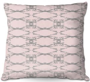 Decorative Outdoor Patio Pillow Cushion | Julie Ansbro - Twigs Pink