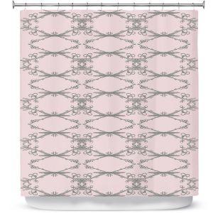 Premium Shower Curtains | Julie Ansbro - Twigs Pink