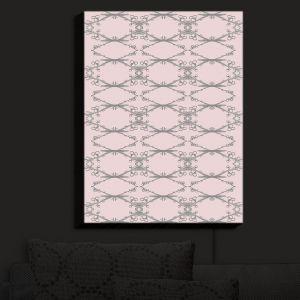 Nightlight Sconce Canvas Light | Julie Ansbro - Twigs Pink | Patterns