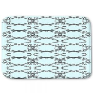 Decorative Bathroom Mats | Julie Ansbro - Twigs Turquoise