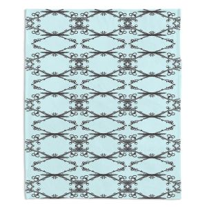 Artistic Sherpa Pile Blankets | Julie Ansbro - Twigs Turquoise