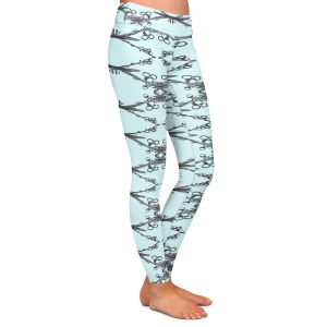 Casual Comfortable Leggings | Julie Ansbro - Twigs Turquoise