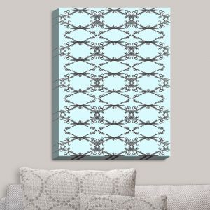 Decorative Canvas Wall Art | Julie Ansbro - Twigs Turquoise | Patterns