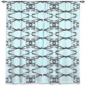 Decorative Window Treatments   Julie Ansbro - Twigs Turquoise