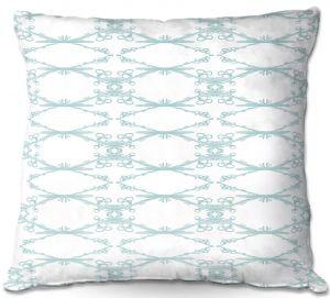 Decorative Outdoor Patio Pillow Cushion | Julie Ansbro - Twigs White